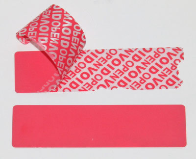 Security Labels Total Transfer VOIDLOC. Roll of 1,000 Seals. 100 x 30mm. Colour RED.