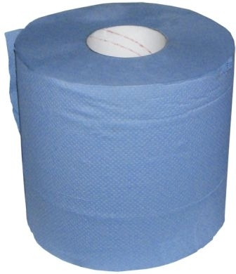 Paper Wipes 2 ply 190mm x 150mm BLUE ROLL