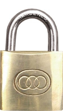 Brass Padlock 50mm with 2 Keys