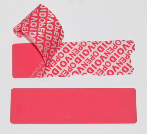 C904 Security Labels Total Transfer VOIDLOC. Roll of 100 Seals. 100 x 30mm. Colour RED.